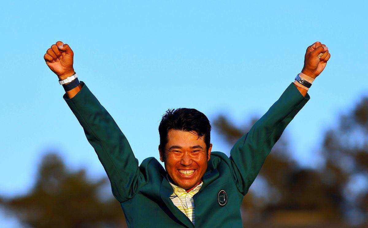 Hideki Matsuyama hangs on for a historic Masters win