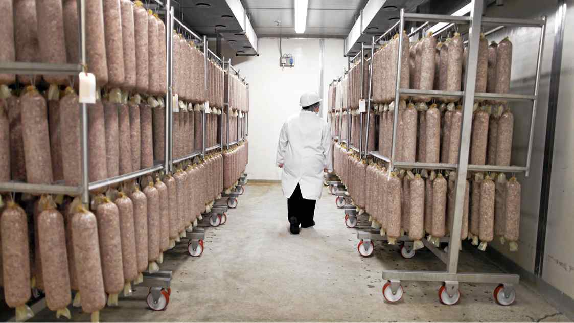 CFIA Food Processing Specialist Inspector Jennifer Hayes on on the job at a Toronto area meat processing plant Nov 16, 2010.