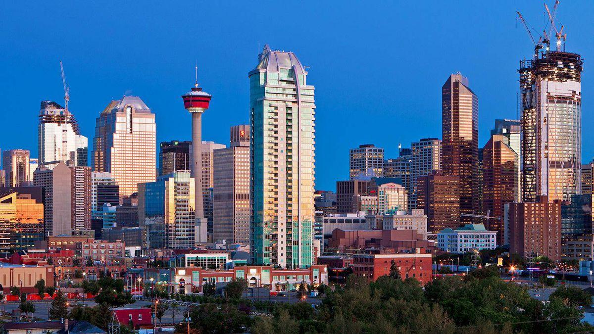 The Calgary skyline is shown on Sept. 9, 2010.
