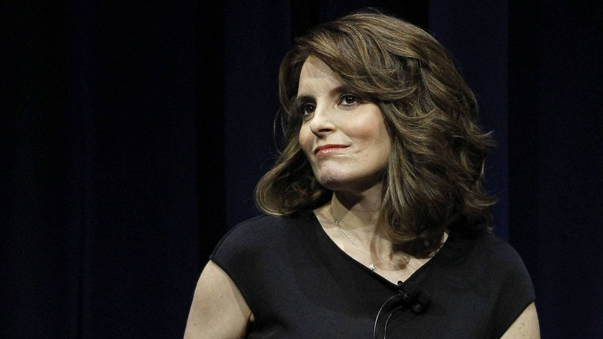 """Actress Tina Fey participates in a Live Talks Los Angeles session """"Tina Fey: A Conversation With Steve Martin"""" at Nokia theatre in Los Angeles April 19, 2011."""