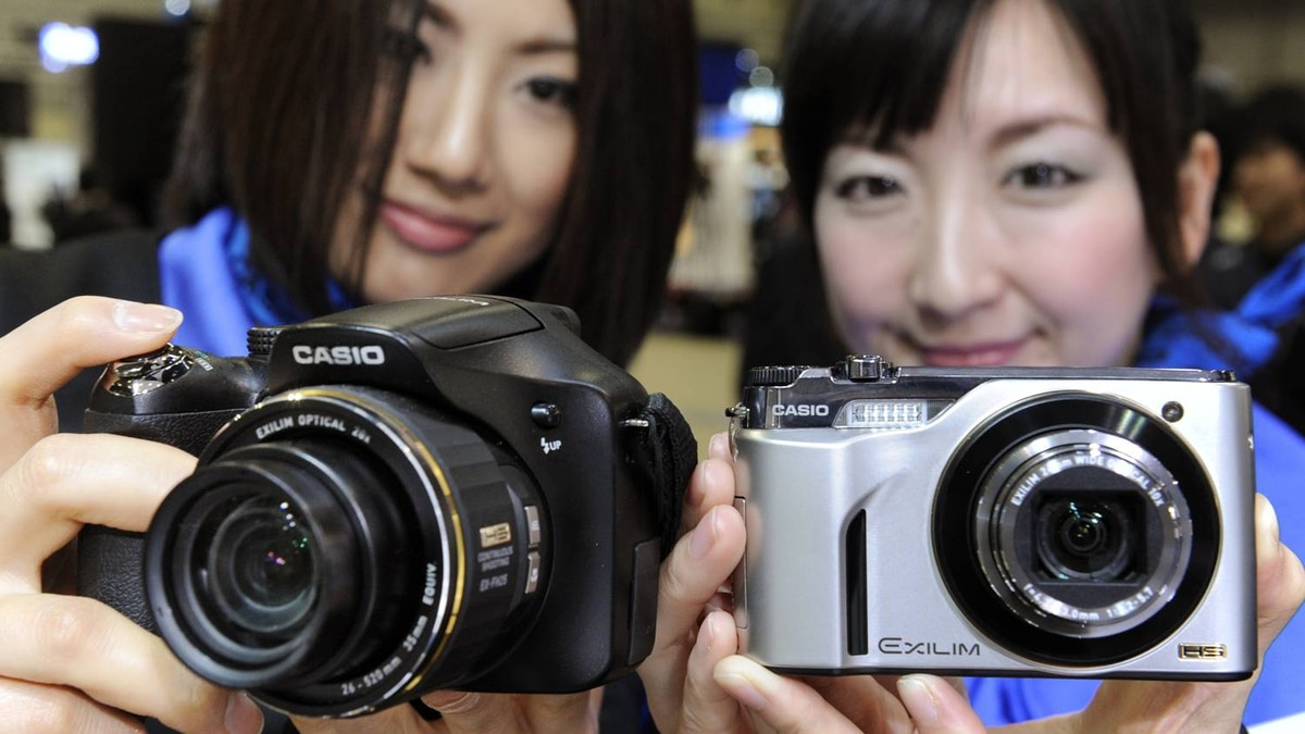 High-speed digital cameras made by Casio Computer