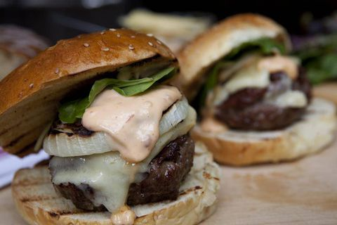 Perfect burgers with spiked aioli