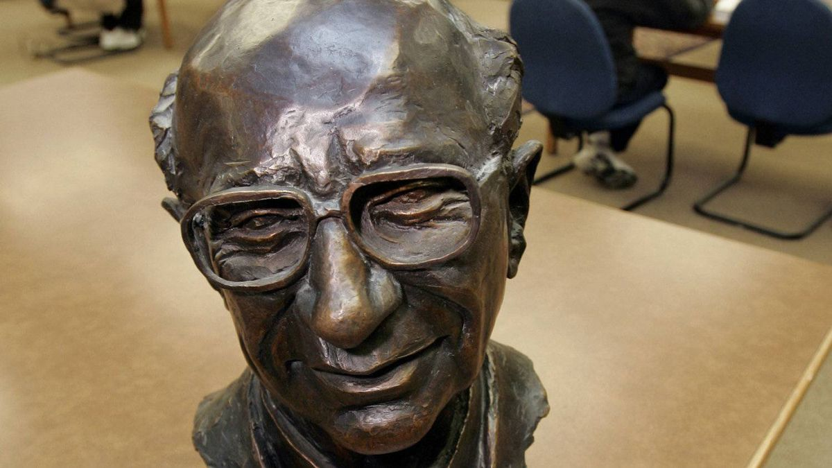 A bust of the late Milton Friedman, the Nobel Prize-winning economist, in a reading room at Stanford University. The U.S. money supply is going through the roof, which suggests, if Mr. Friedman's theories are correct, that inflation is on the way.