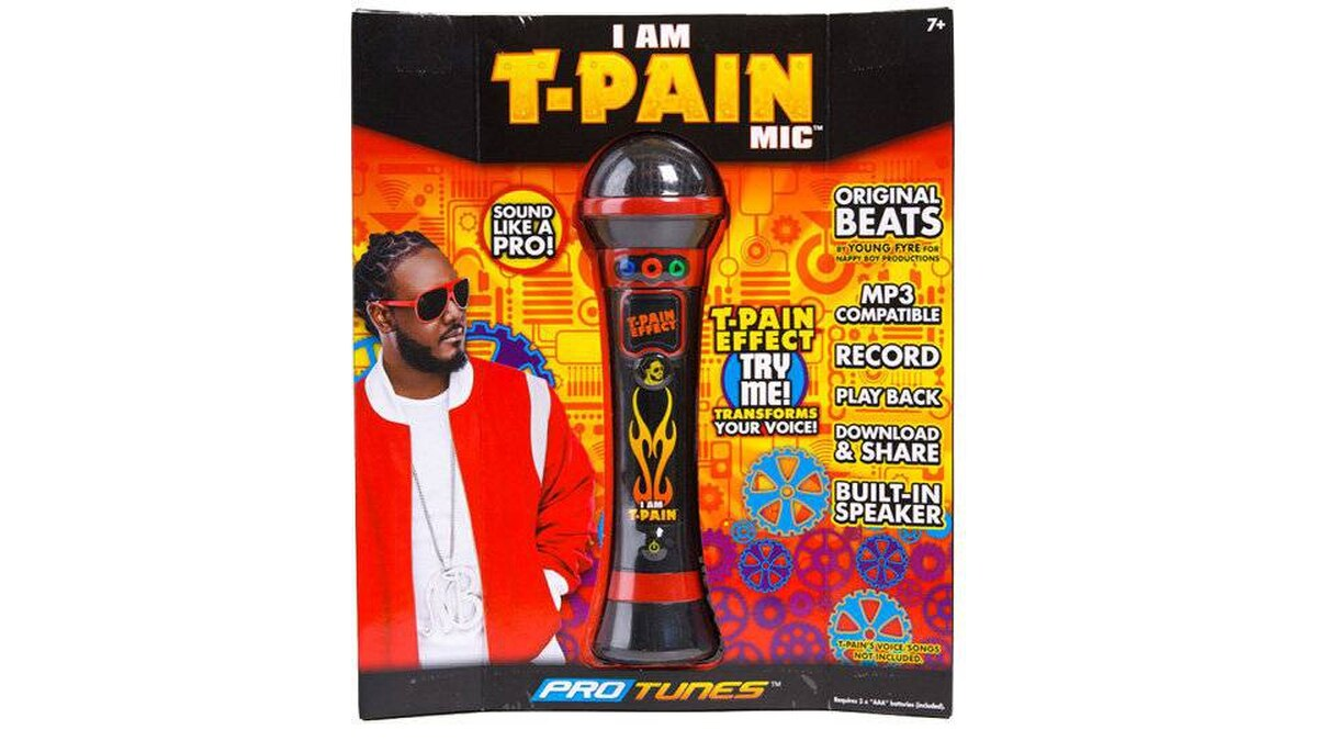 I Am T-Pain Mic Why would you give a child a toy that makes him or her sound like an amplified, badly auto-tuned rapper. Why?!