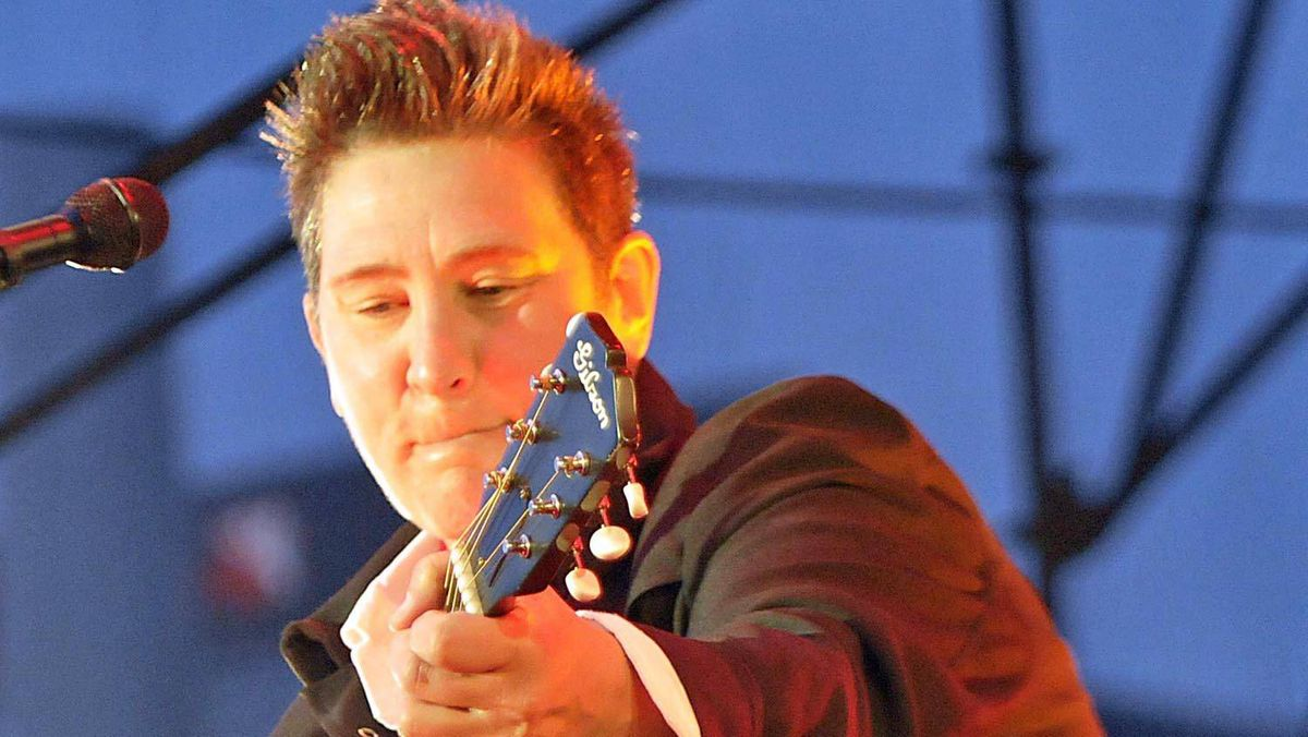 k.d. lang performs on an open air stage as part of Luminato in downtown Toronto, June 17, 2011.