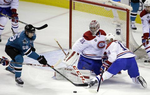 Sharks snap 8-game home skid with win over Canadiens