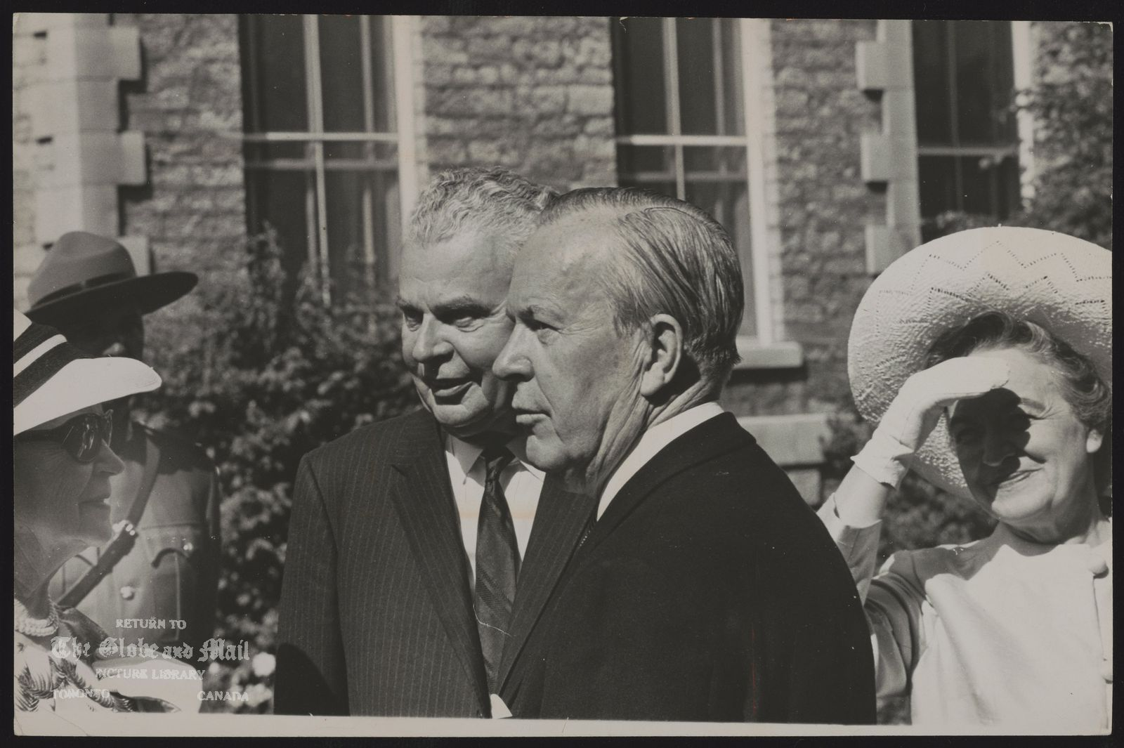 Lester B. PEARSON with John Diefenbaker