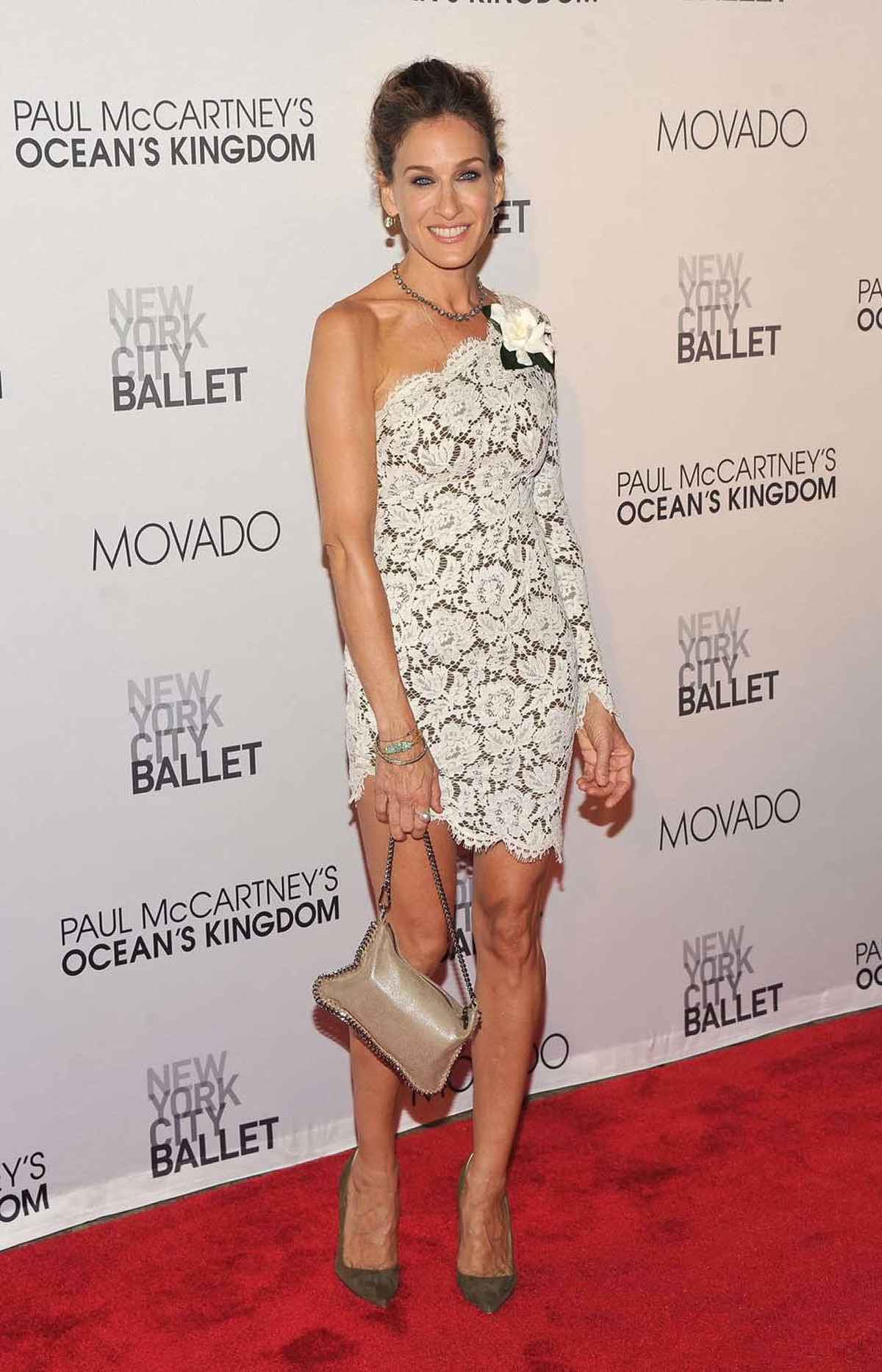 "Sinewy actress Sarah Jessica Parker attends the 2011 New York City Ballet Fall Gala last week. We said ""sinewy"" because ""gristly"" doesn't have the same polite ring."