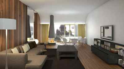An artist's rendering of the Extreme WOW Suite of the new W St. Petersburg, opening in March.