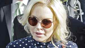 Actress Lindsay Lohan arrives for a probation hearing at Los Angeles Superior Court Wednesday, Nov. 2, 2011.