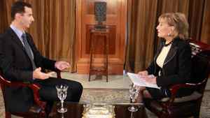 Barbara Walters interviews Syrian President Assad in this ABC screenshot from December 7, 2011.