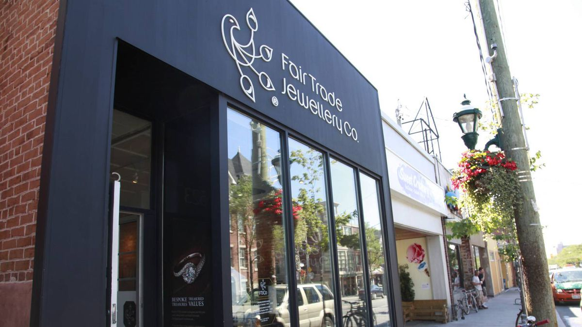 View of FTJCO storefront on Parliament Street in Toronto, Ontario