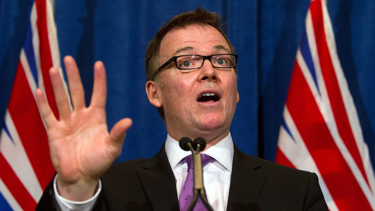 B.C. Finance Minister Kevin Falcon has sided with the federal Conservatives in attacking critics of the Northern Gateway pipeline proposal.