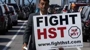 Local anti-HST organizer Eddie Petrossian in Tsawwassen, B.C., on Wednesday June 30, 2010.