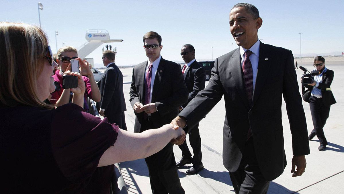 U.S. President Barack Obama arrives in Las Vegas to begin a two-day, four-state trip on Wednesday to promote plans to make the United States less dependent on foreign oil just as voters grow increasingly exasperated about rising gasoline prices, a trend that could influence the President's re-election chances.