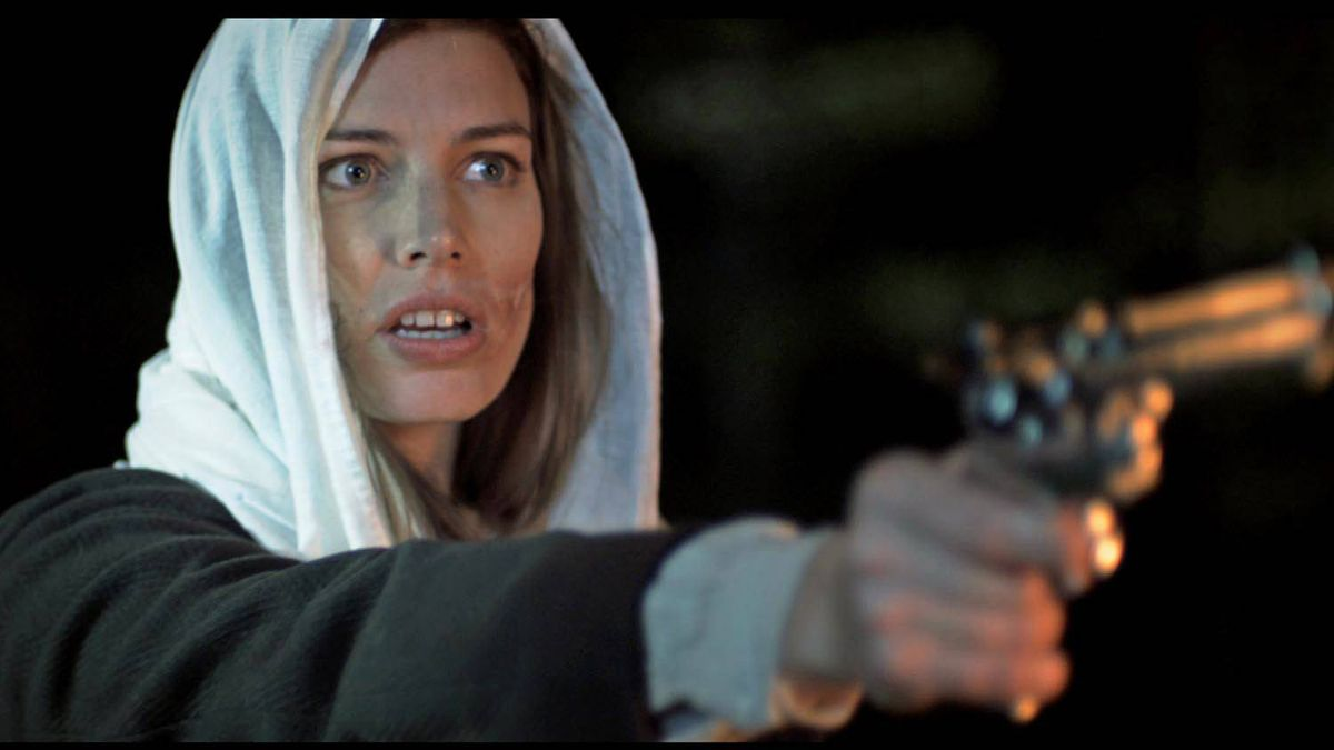 Jessica Pare as Amethyst in The Mountie (2011).