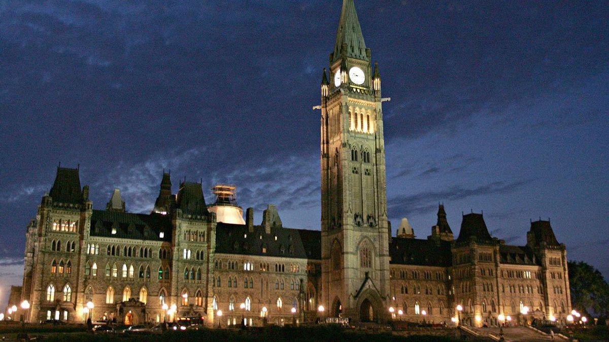 Parliament Hill in Ottawa.