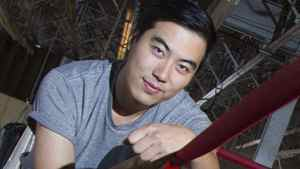 Documentary director Yung Chang poses at the Blue Cat Boxing Gym in Montreal on May 8, 2012.