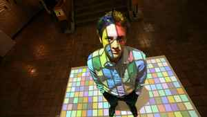 Ryerson student Jonathon Ingham is working on interactive ads that can be projected on floors or walls. Deborah Baic/The Globe and Mail