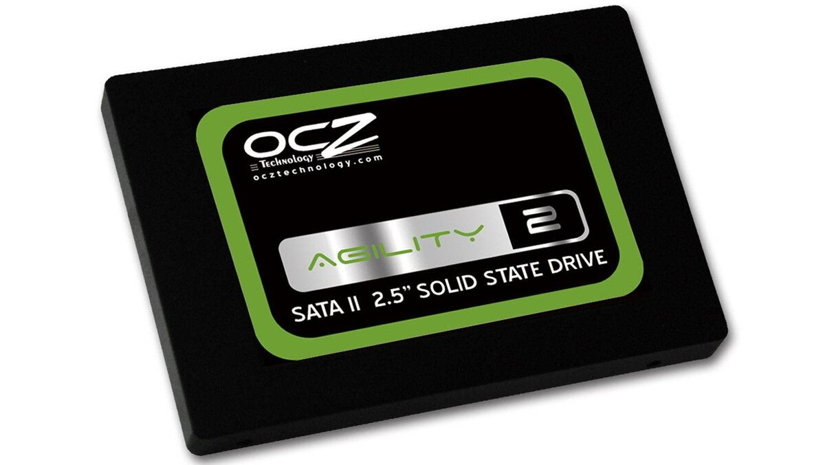 An OCZ solid-state drive.