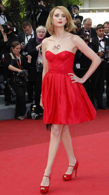 """Actress Frederique Bel on the red carpet for the screening of """"Habemus Papam"""" at the Cannes Film Festival on Friday."""