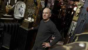 Jim Addison photographed at his antique shop on Wabash Ace., Toronto January 17, 2012. Photo by: Fernando Morales/The Globe and Mail