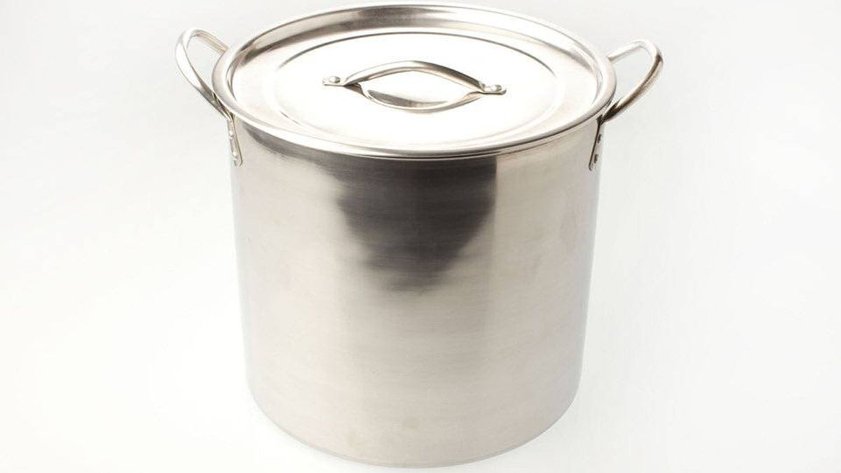 A 16-quart stainless-steel stock pot is go-to equipment, perfect for boiling spaghetti, blanching green vegetables or cooking lobster. You can even make stock in it. Don't bother buying anything fancy: You're using it to boil water and thin liquids for the most part; water doesn't generally burn.
