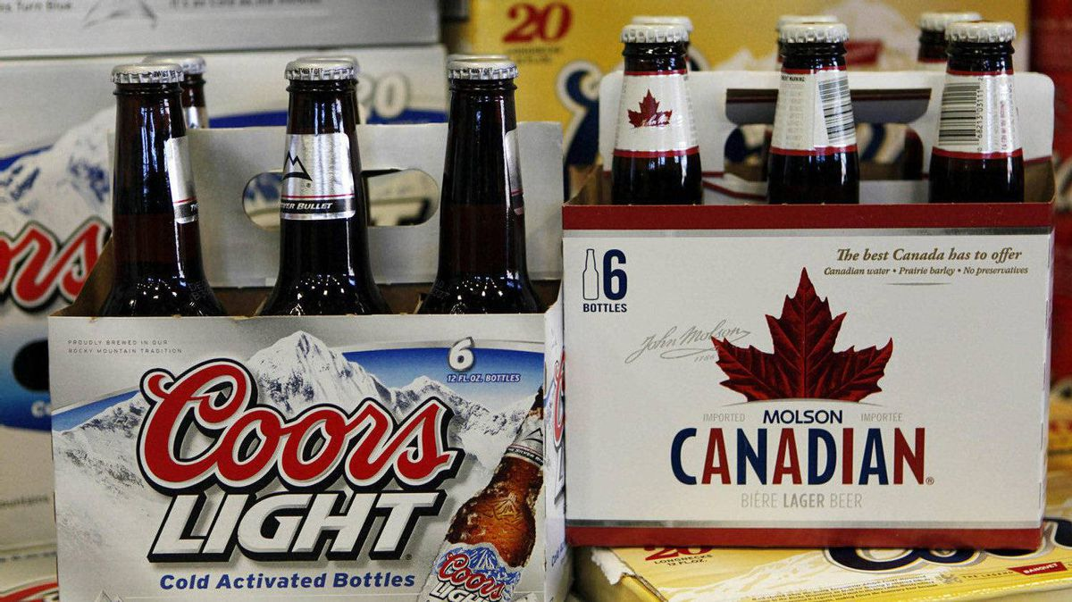 Coors Light and Molson Canadian on sale in Denver, Colo.