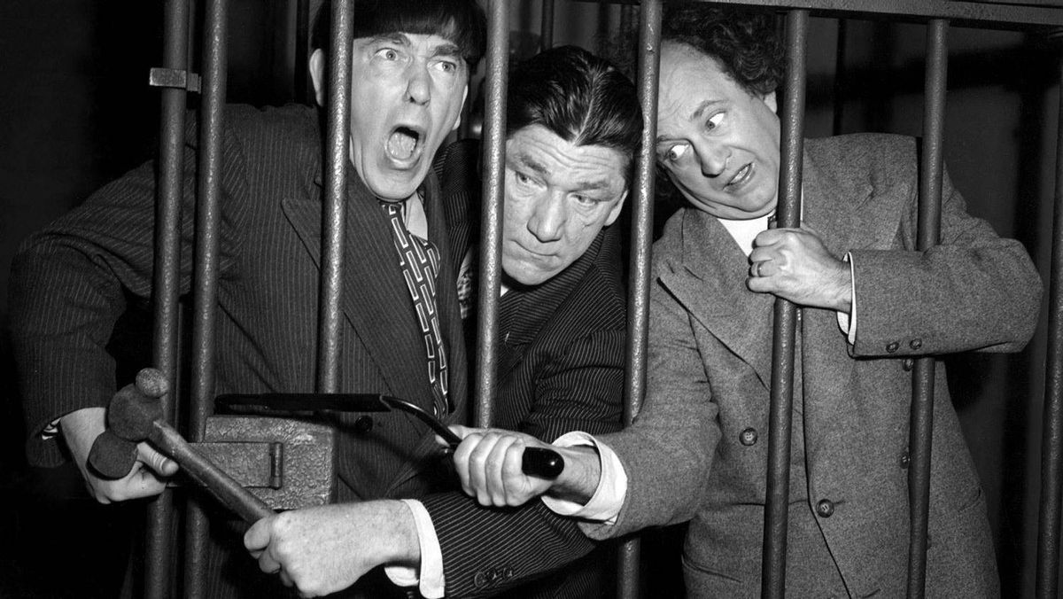 The original Three Stooges: Moe Howard, Shemp Howard and Larry Fine. Casting continues for the movie remake.