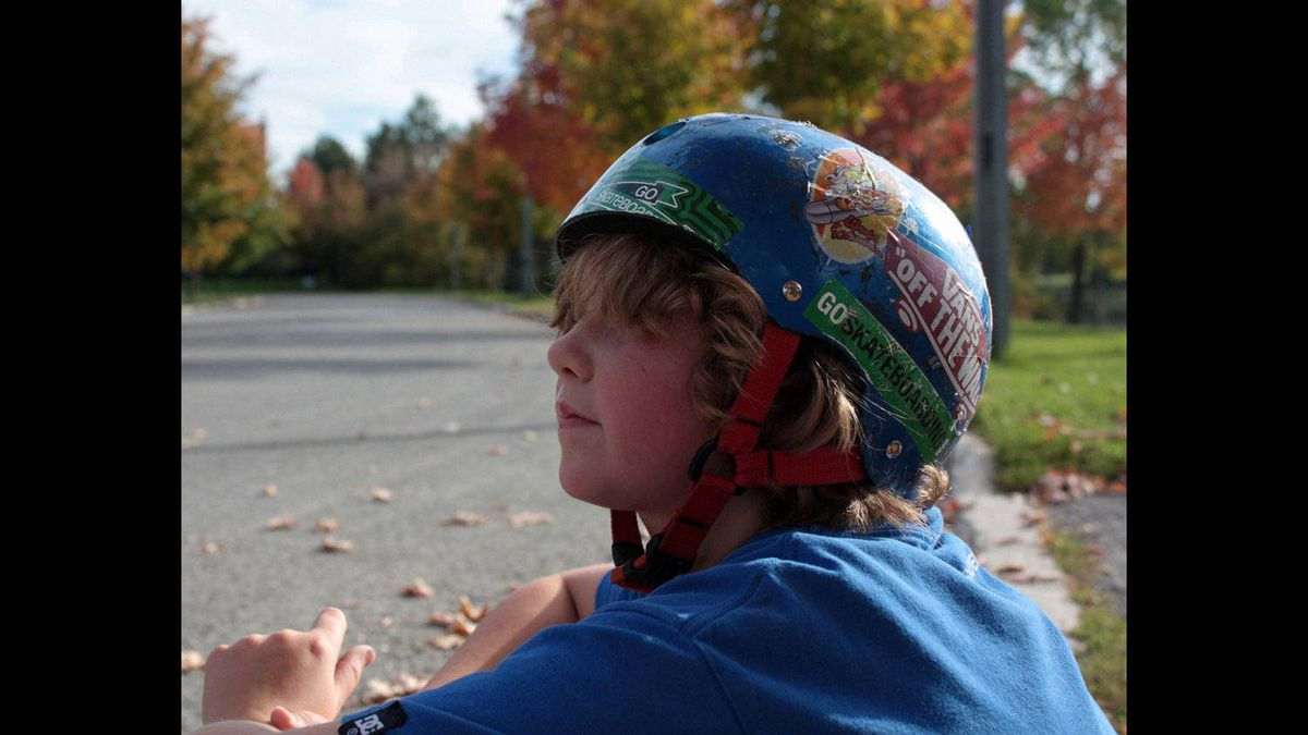 Vanessa Cudmore photo; Thinking... What's better than skateboarding on the neighbourhood street on a great day!