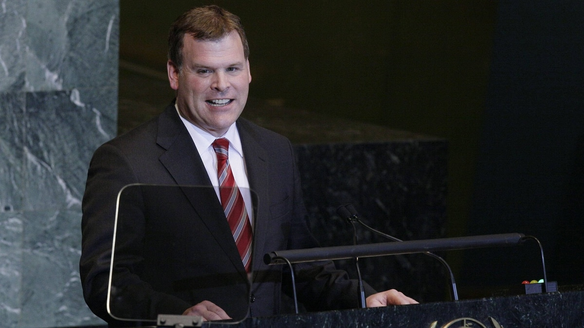 Foreign Minister John Baird addresses the 66th UN General Assembly at UN Headquarters Sept. 26, 2011.