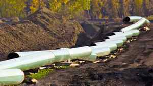 Keystone pipeline contruction in North Dakota.