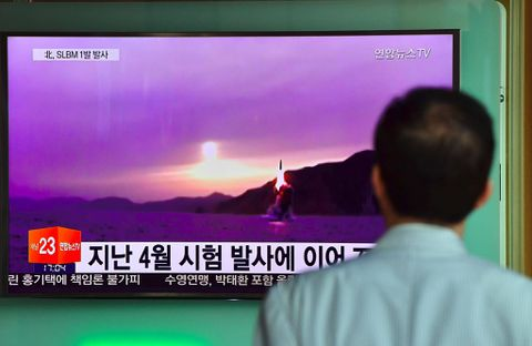 North Korea test-fires submarine-launched missile