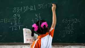 If you were a teacher, you might have the impresion this student isn't as good at math as she actually is.