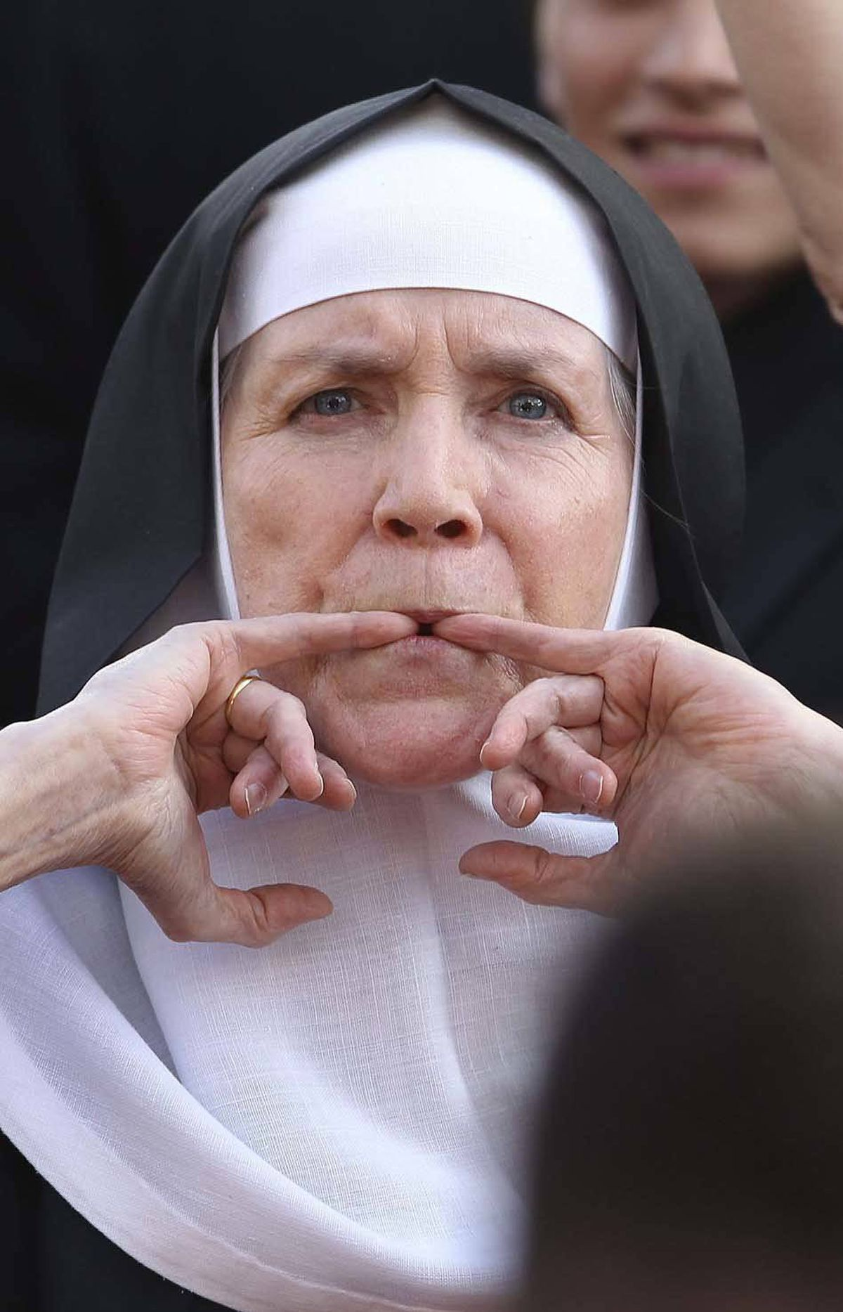 A whistling nun appears on the Oscars red carpet Sunday. That has got to be the weirdest thing on the red carpet, right? There's not going to be something more difficult to explain than that.