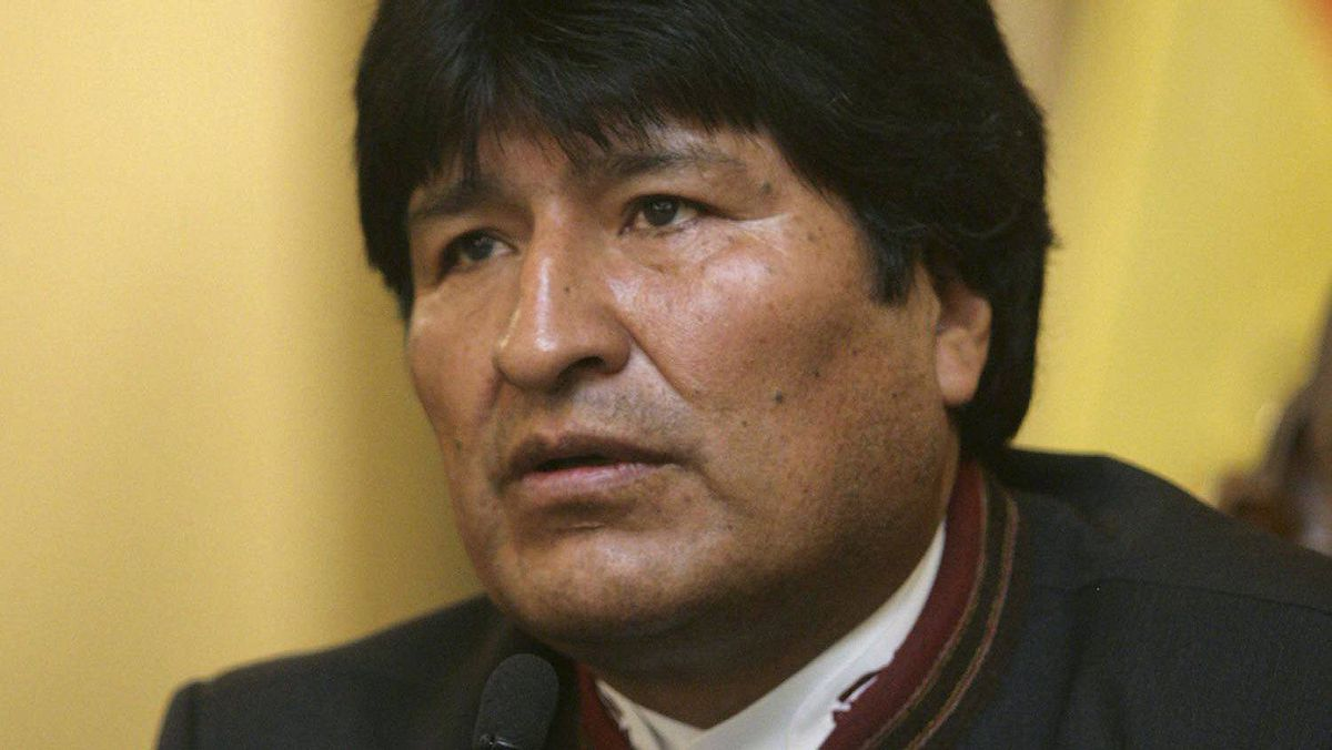 Bolivia's President Evo Morales speaks at a news conference in La Paz on Oct.16, 2011.