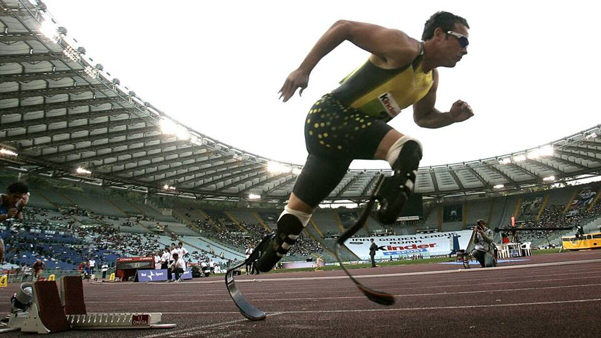 South Africa's Oscar Pistorius competes in the men's 400 metres during the Golden Gala IAAF Golden League at the Olympic stadium in Rome July 13, 2007.