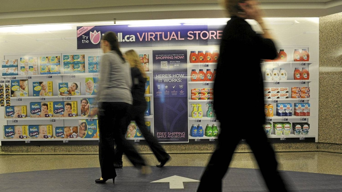 Well.ca's virtual store in a Toronto subway station allows consumers to purchase items using a smartphone and have them delivered to their homes.