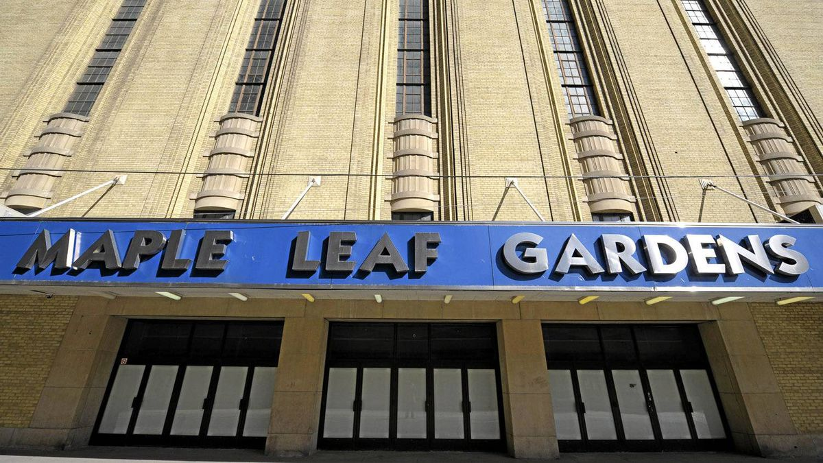 Maple Leaf Gardens, seen here in an April 16, 2008 file photo, is being converted into a multi-purpose space shared by Loblaws and Ryerson University.