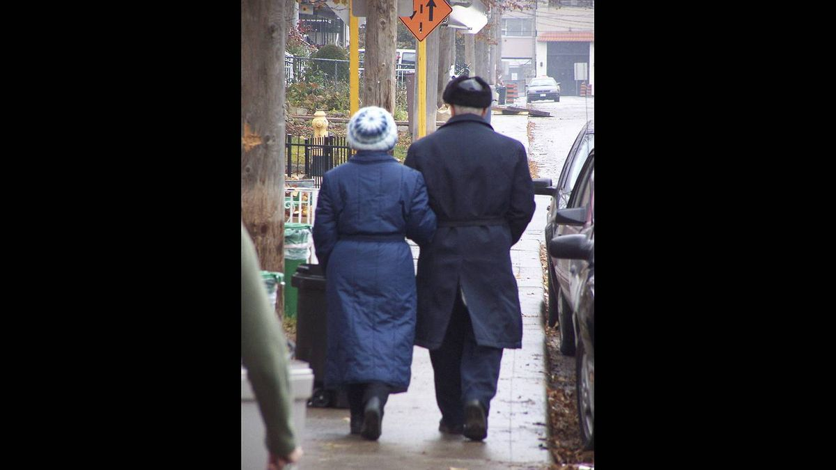 Jim Shaw photo: Love and relationships - Together They Walk in The Morning Rain.
