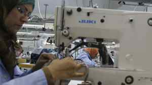 Employees at a Tunisian clothing factory in Sfax, 260 kilometres south of Tunis, create underwear for lingerie chain La Perla. A string of countries around the fringes of western Europe are becoming new centres of clothing manufacture as China's factories and labourers become more expensive.