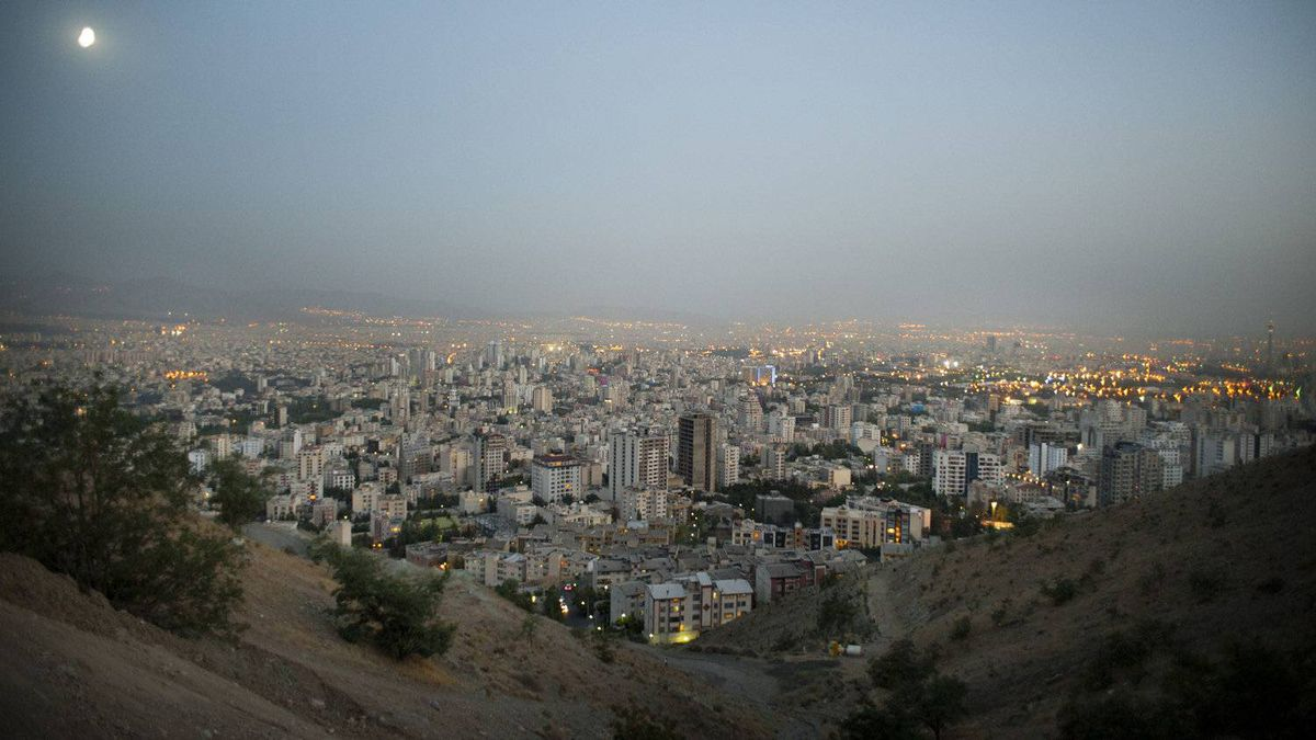 Looking over the city from Baam-e-Tehran ('the roof of Tehran') on a hazy afternoon.