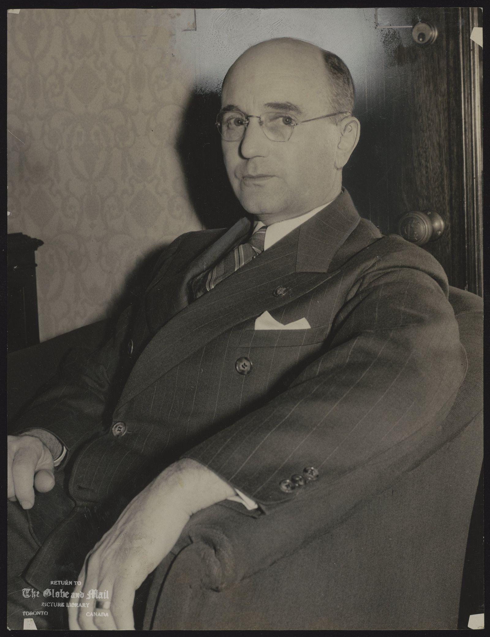Premier J B (John) McNair of New Brunswick
