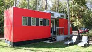 Lloyd Alter's 375 square foot prefabricated miniHome, built by Toronto's Sustain Design Studio.