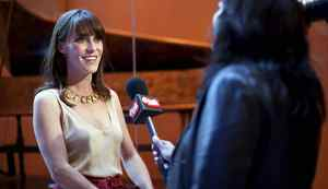 TORONTO -- May 13, 2012: Fiest is interviewed during the Royal Conservatory of Music 125th anniversary gala where she was appointed an honorary fellow along with Measha Brueggergosman. Photo by Della Rollins for the Globe and Mail