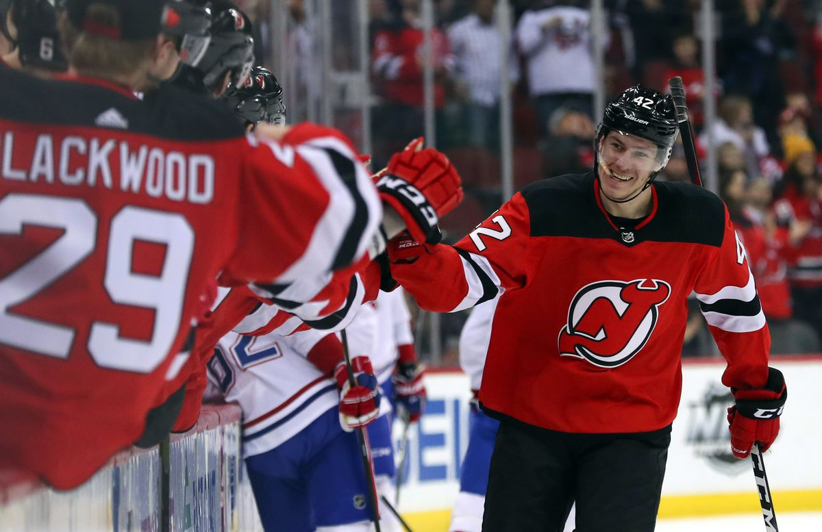 Nathan Bastian scores first NHL goal as Devils sweep season series with  Montreal Canadiens - The Globe and Mail 50fb8c755