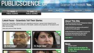 PublicScience.ca, a website for government scientists represented by Professional Institute of the Public Service of Canada, went on Oct. 18, 2010.