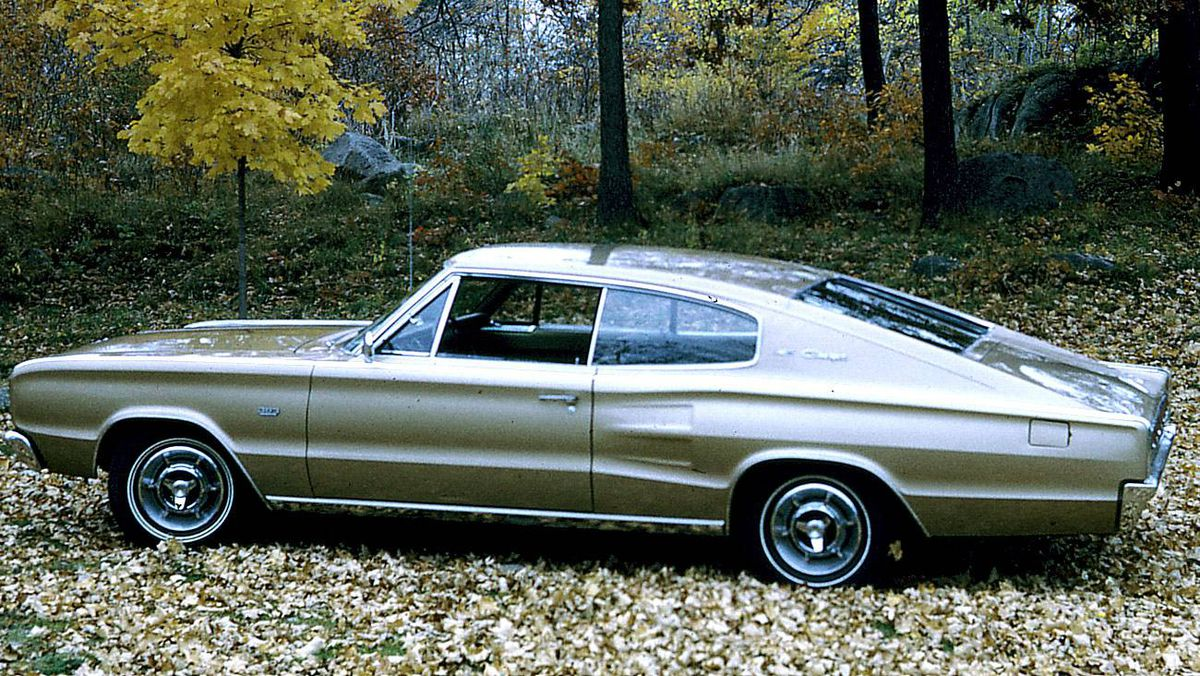 1966 Dodge Chager, 383, 4 barrel, automatic, PS, PB. Bought in 1967, parked in 1979, and later sold. Driven for 145,000 miles (not kilometers). A great car comfortable and fast - hard on gas.