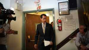 Mr. Weiner stood alone at the press conference; his pregnant wife, Huma Abedin, remained at home while he officially ended the only career he has ever known.