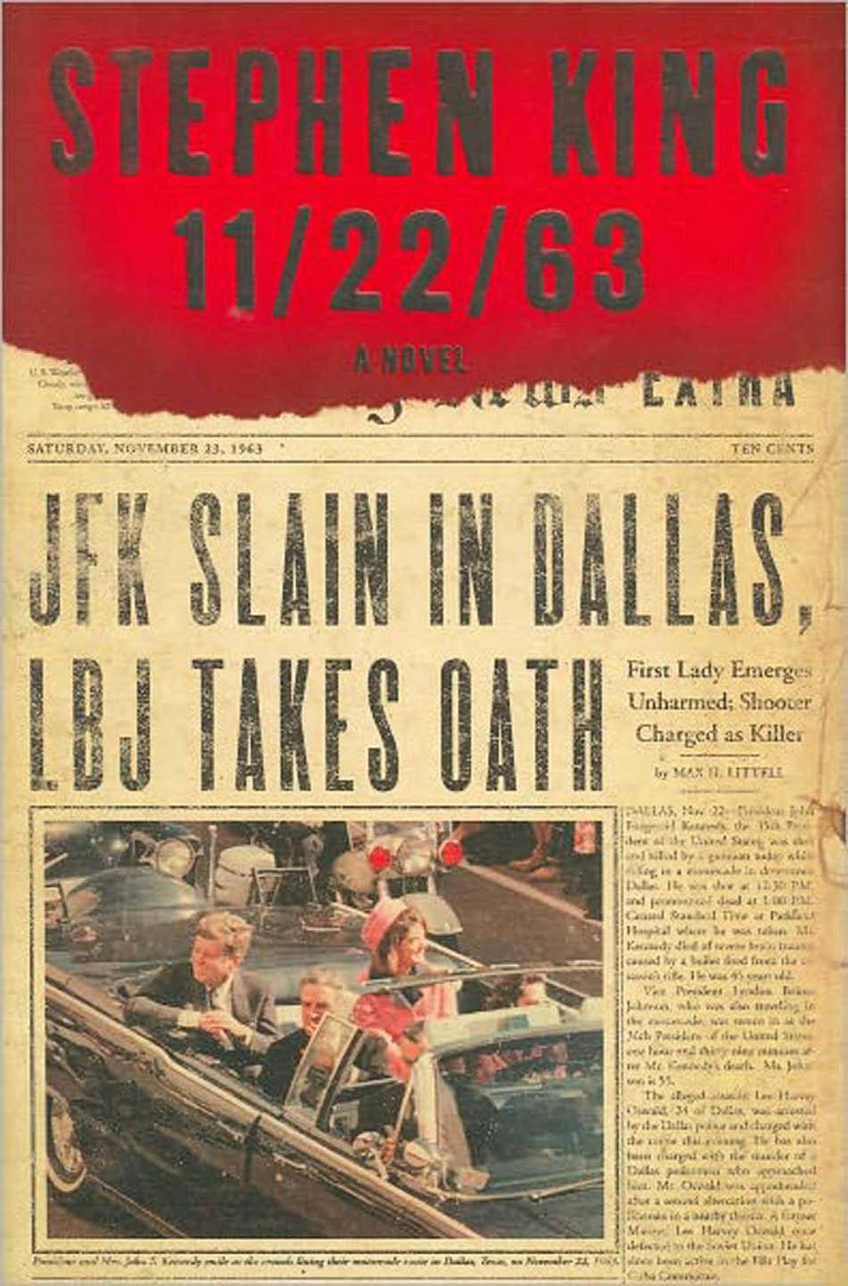 11/22/63 By Stephen King (Scribner) A thrilling, thoughtful, character-centred journey into the American dream. The time portal Jake Epping is shown, in a grotty roadside diner, goes only to 1958. Al, who owns the diner, has spent five years in the past, preparing to stop the assassination of John F. Kennedy. But cancer foiled him, so he enlists Jake to finish the job. – Robert J. Wiersema